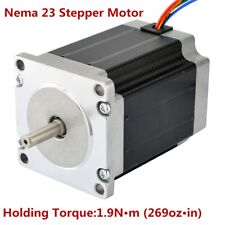 Nema 23 Stepper Motor 3a 36v 269ozin19nm Cnc Stepping Motor Diy Cnc Mill