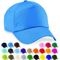Fashion Unisex Cotton Adjustable Classic Summer Sun 5 Panel Hat Baseball Cap