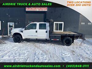 2008 Ford Super Duty F-350 DRW XL Flat Bed truck !!GAS!! 4x4