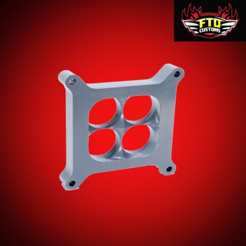 4150 2 inch CNC 3D Carburetor Spacer adds 6 to 80 Horsepower Stop heat transfer