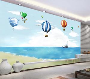 Papel Pintado Mural De Vellón Playa Globo De Caliente 14 Paisaje Fondo Pansize