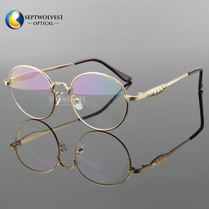 9c30cf85c1 Image is loading Vintage-Metal-Eyeglass-Frames-Gold-Glasses-Retro-Oval-