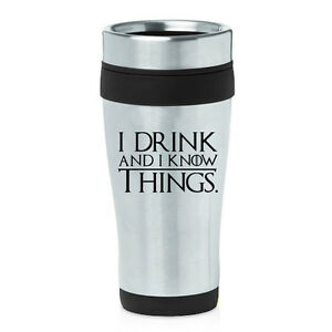 Image Is Loading Stainless Steel Insulated 16oz Travel Mug Coffee Cup