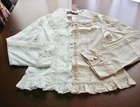 Bodyline Sweet Classic Lolita Long Sleeve Rose Lace Blouse 2 Colors Size 2l