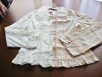 Bodyline Sweet Classic Lolita Long Sleeve Rose Lace Blouse 2 Colors Size 2l