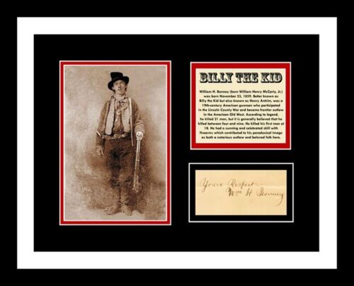 BILLY THE KID *SIGNED* AUTO 11x14 PHOTO DISPLAY *READY 2 FRAME* WILD WEST!