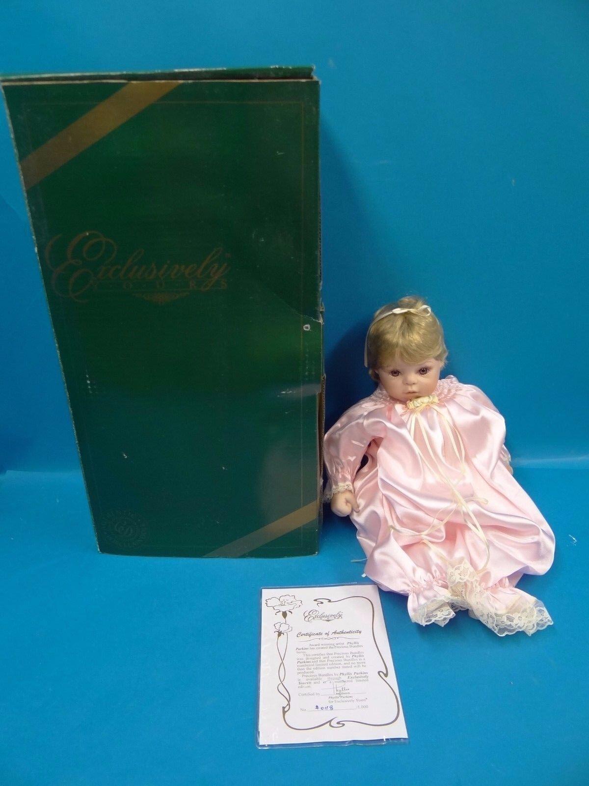Exclusivamente suya auténtico porcelana muñeca de 118 1000 Edición Limitada Phyllis Parkins