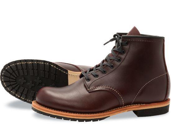 rot Wing 9011 Heritage Herren 6-Inch Stiefel (Blk Kirsch Featherstone Leder)
