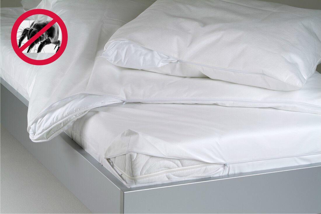 BNP Allergiker Bezug Medicase Milbenschutz für Matratzen bis 16 cm Höhe Evolon