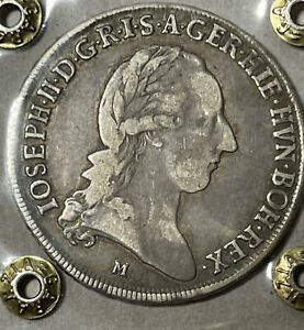 MILANO - DOMINAZIONE AUSTRIACA GIUSEPPE II D'ASBURGO MEZZO CROCIONE 1787 PERIZIA