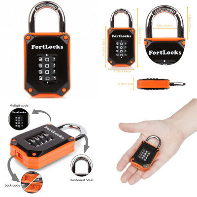 4 Digit Heavy Duty Hardened Stainless Steel ... FortLocks Gym Locker Lock