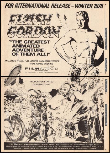 FLASH GORDON__Orig. 1977 Trade print AD promo / poster__FILMATION__ALEX RAYMOND