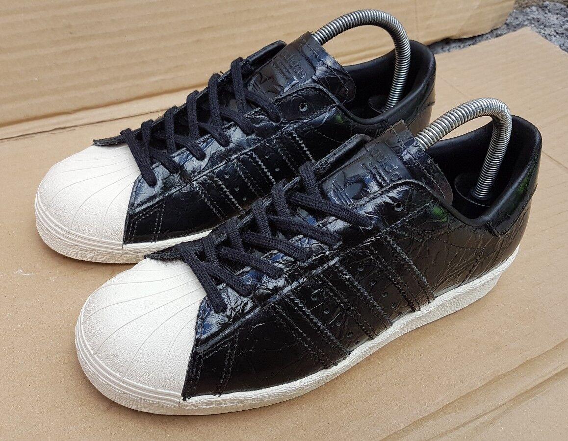 wholesale dealer 3366d cb3a7 adidas superstar 80 80 80 formateurs noir taille d effet 5 royaume - uni  brevets comme crocodile ...