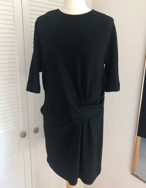 Gerard Darel Womens Black Crepe Short Sleeve Shift Dress Size 44 Uk 16 Us 12 For Sale Online Ebay