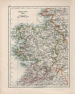 Map Of West Of Ireland.Details About 1909 Victorian Map Ireland West Mayo Galway Clare Tipperary