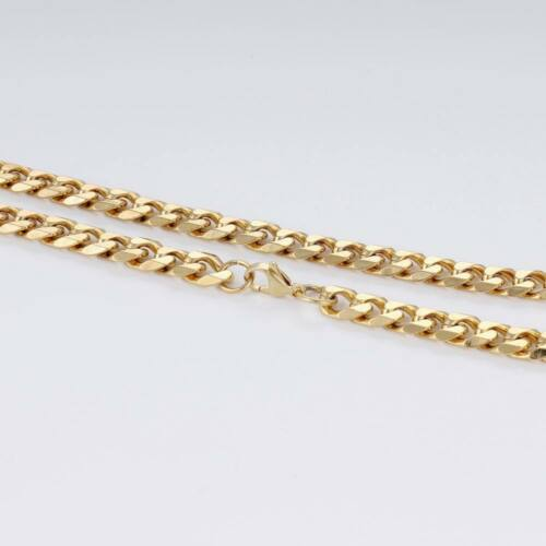 Men 3//5//7//9//11mm 18-36 inch Gold Cuban Link Chain Necklaces Stainless Steel
