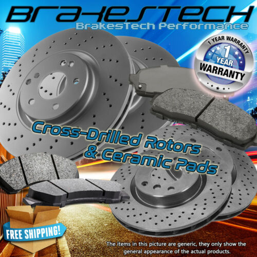 F+R Cross Drilled Rotors /& Ceramic Pads for 2016 Nissan Murano