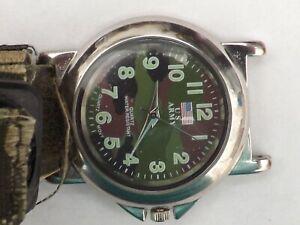 a gents stainless steel cased u.s.army quartz watch GWO