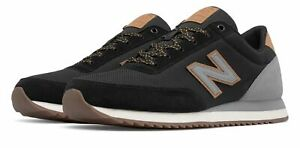 New-Balance-Men-039-s-501-Ripple-Sole-Shoes-Black-with-Grey