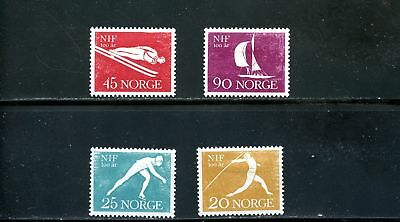 Europe Glorious Lot 67282 Mint Hr 389-392 Norway Javlin Thrower Sports Luxuriant In Design