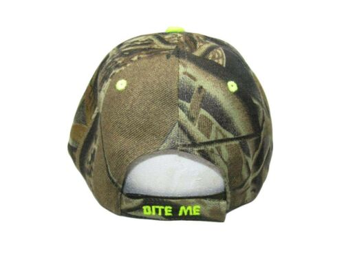 Bite Me Hook Trout Fishing Camouflage Camo Embroidered Cap CAP925C Hat
