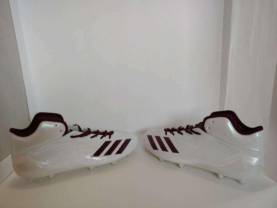 NEW Without Box Men's White Adidas Adizero Football Cleats BW1088 Size 15  FC