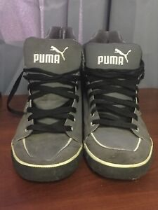 Puma Black And Grey High Top Shoes Size
