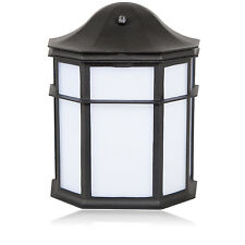 Maxxima Decorative Outdoor LED Wall Pack Light with Dusk to Dawn Sensor 3000K