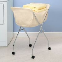 Laundry Hamper Cart Rolling Clothes Storage Basket Wheeled Clothing Sorter Rack