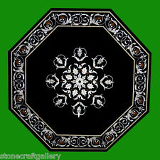 """24"""" Coffee Table Top Marble Pietra dura Handmade Home Decor for Gifts"""