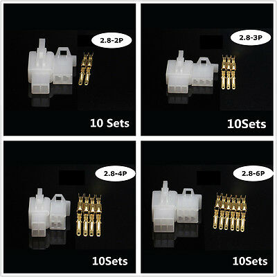 50Sets Auto Car Truck Electrical 2.8mm 2 3 4 6 9 Pin Way Wire Connector Terminal