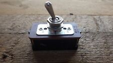 NSF CH VINTAGE NOS 10 AMP PANEL MOUNT TOGGLE SWITCH 250V ENGLAND ON OFF ELECTRIC
