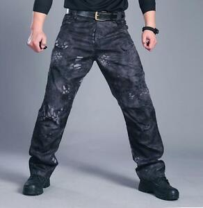 Worker-Mens-Officer-Tactical-Pants-Waterproof-Specials-Camouflage-Loose-Trousers