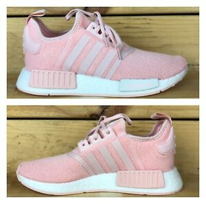 Adidas-NMD-R1-J-Youth-Girls-Running-Shoes-Pink-White-Size-6-5-EE6682