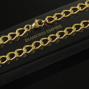 7bee1c218235 CADENA 7mm Auténtico 999 bañado en oro 24 Quilates Amarillo Mujer ...