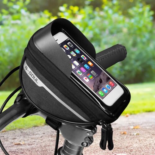 Bicycle Front Tube Phone Bags Waterproof Touch Screen Cycling Frame MTB Pannier