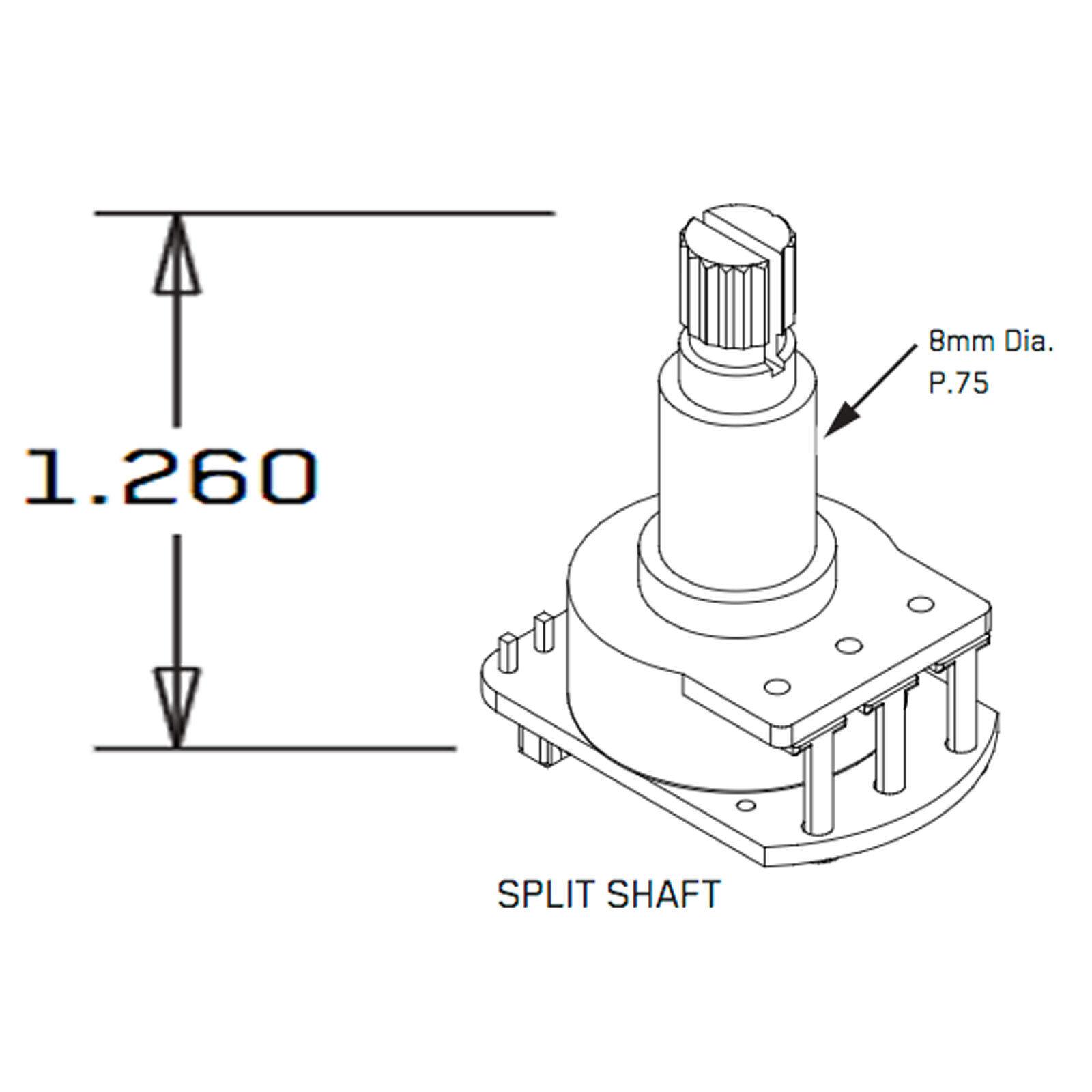 Emg Split Shaft 25k Guitar Volume Potentiometer Pot Ebay Potensio Mono 250k Norton Secured Powered By Verisign