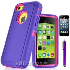 Hard&Soft Rugged Rubber Silicone Protective Case Cover for Apple iPhone 5C