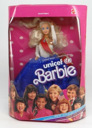 UNITED STATES COMMITTEE FOR UNICEF BARBIESpecial Ed. Mattel 1989 1920NEW NRFB