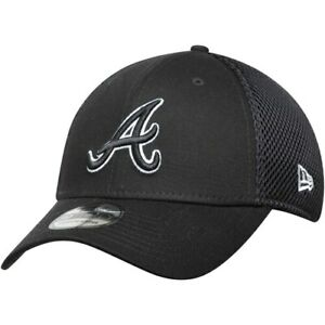 Atlanta-Braves-New-Era-Neo-39THIRTY-Unstructured-Flex-Hat-Black