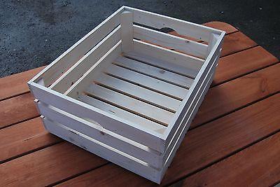 Candido Nuovo Buona Qualità Crate 50x39x20cm Di Legno Naturale Per Frutti O Ortaggi-