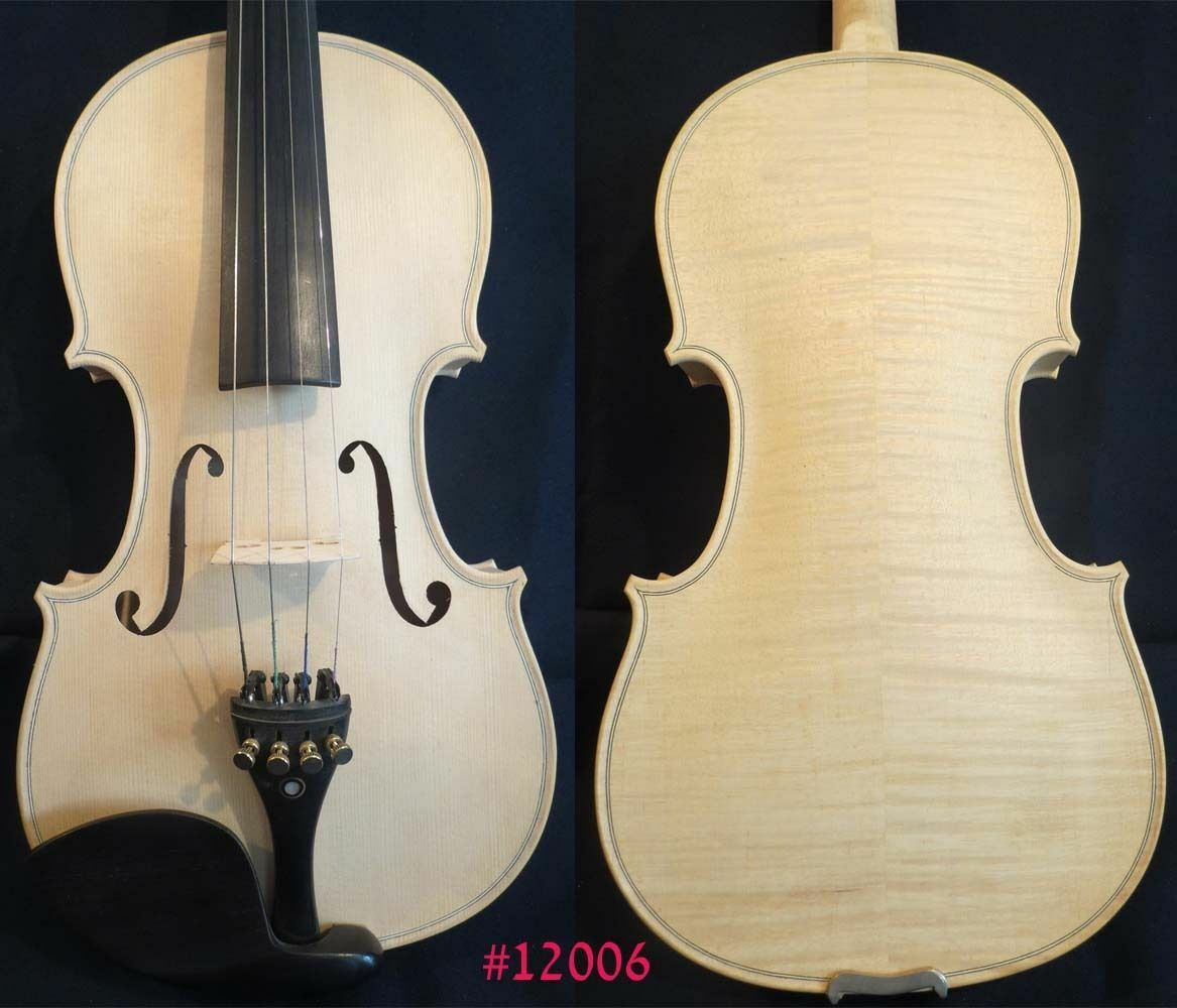 Strad style SONG Brand white unfinishe violin 4 4,good sound