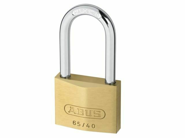 ABUS Mechanical - 65 / 40mm Latón Candado 40mm Long Shackle Carded
