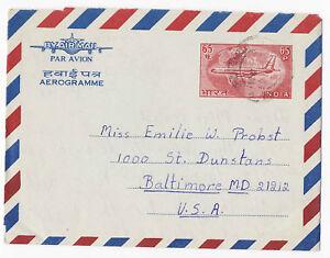 India 1966 Postal Stationery Aerogram Letter Sheet H&G #37 to ...