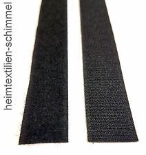 Klettverschluss Haken Klettband / Flauschband selbstklebend Annähen schwarz 20mm