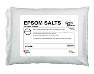 Epsom salts 5kg 25kg multi listing food grade magnesium sulphate bath salts ebay - Sali di epsom bagno ...