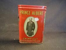 Old Vtg Prince Albert Crimp Cut Red Tobacco Tin Made in NC U.S.A