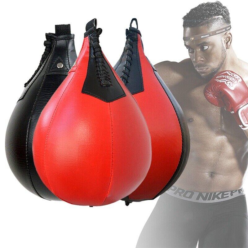 Boxing Punching Bag Faux Leather Speed Bag Taekwondo Muay Thai Training Fitness