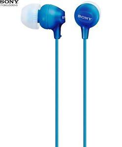 SONY-mdr-ex15-Blu-Auricolari-cuffie-stereo-con-Potente-Basso-NUOVO