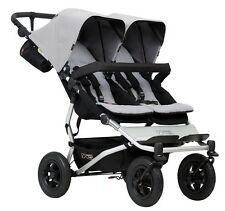 Mountain Buggy 2017 Evolution Duet Double Stroller - Silver - New! Free Shipping